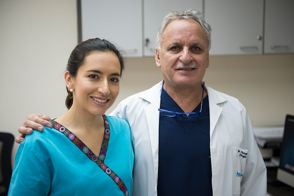 Dr Sandoval with his daughter