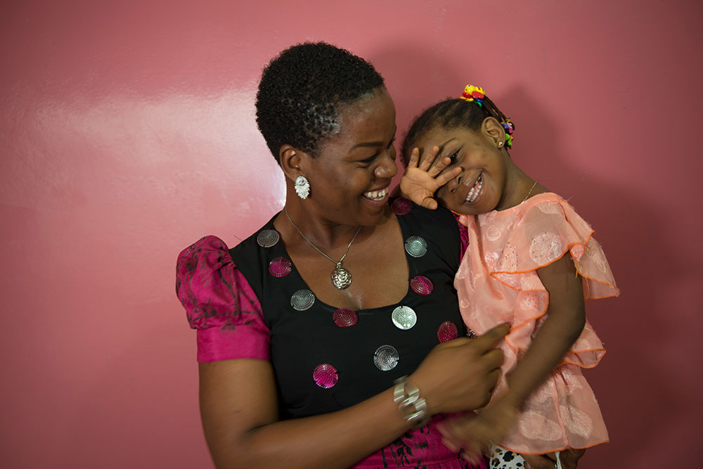 A cleft surgery patient from Nigeria