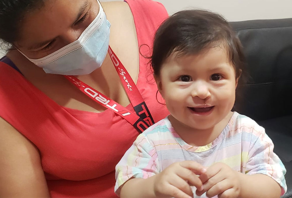 Gianna after Smile Train-sponsored cleft lip and cleft palate surgery.
