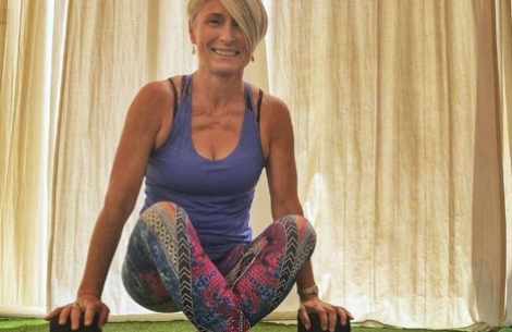 Yoga for Smiles teacher Elaine Kelly
