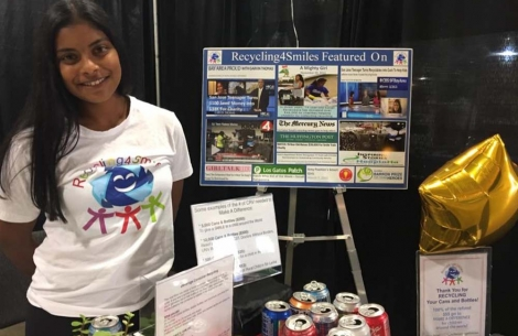 Sonali at recycling for smiles booth