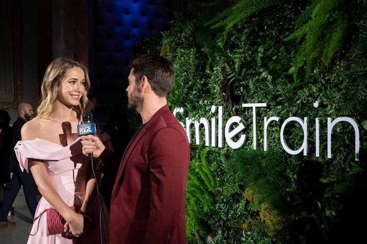Miss USA interviewed at Smile Train event