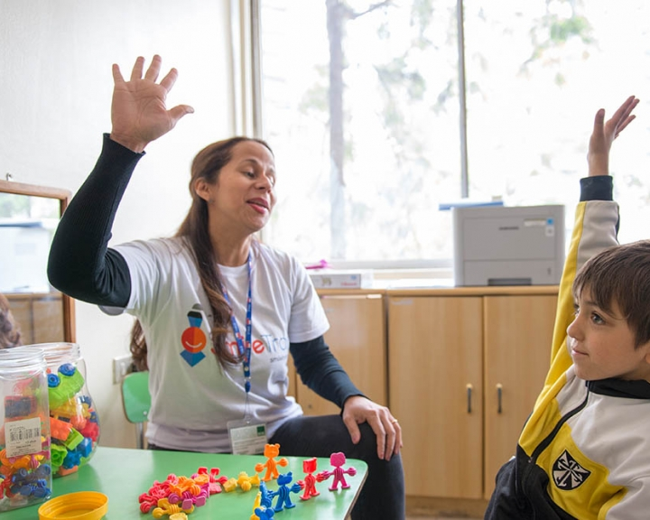 cleft speech therapy session in Chile