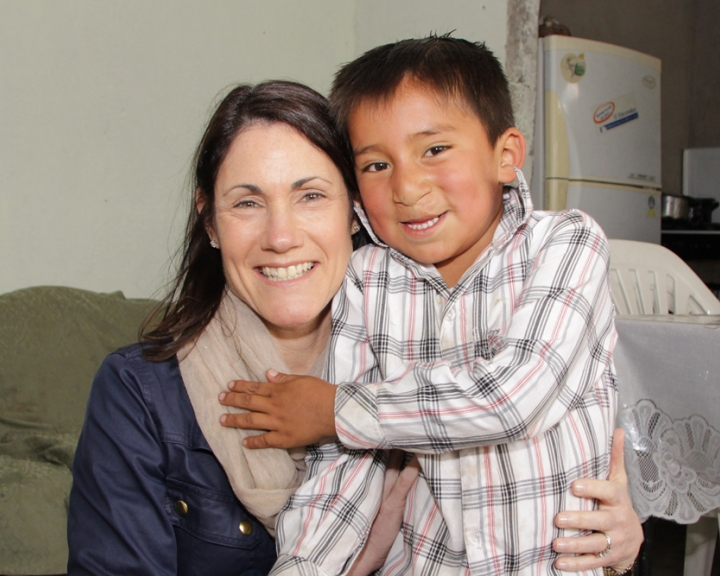 Susie with Ecuadorian Boy